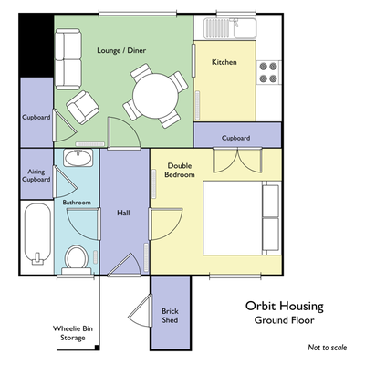 Floor plan of Orbit Housing