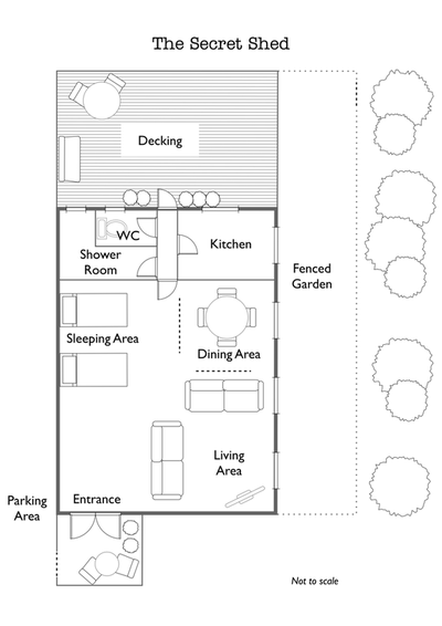 Floor plan for The Secret Shed