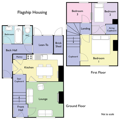 Floor plan of Flagship Housing