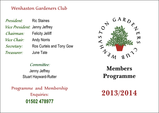 Wenhaston Gardeners Club