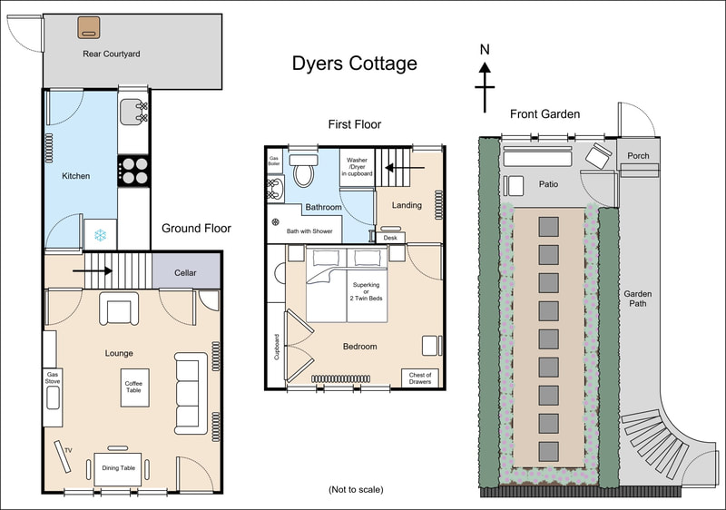 Floor plan created for Dyers Cottage